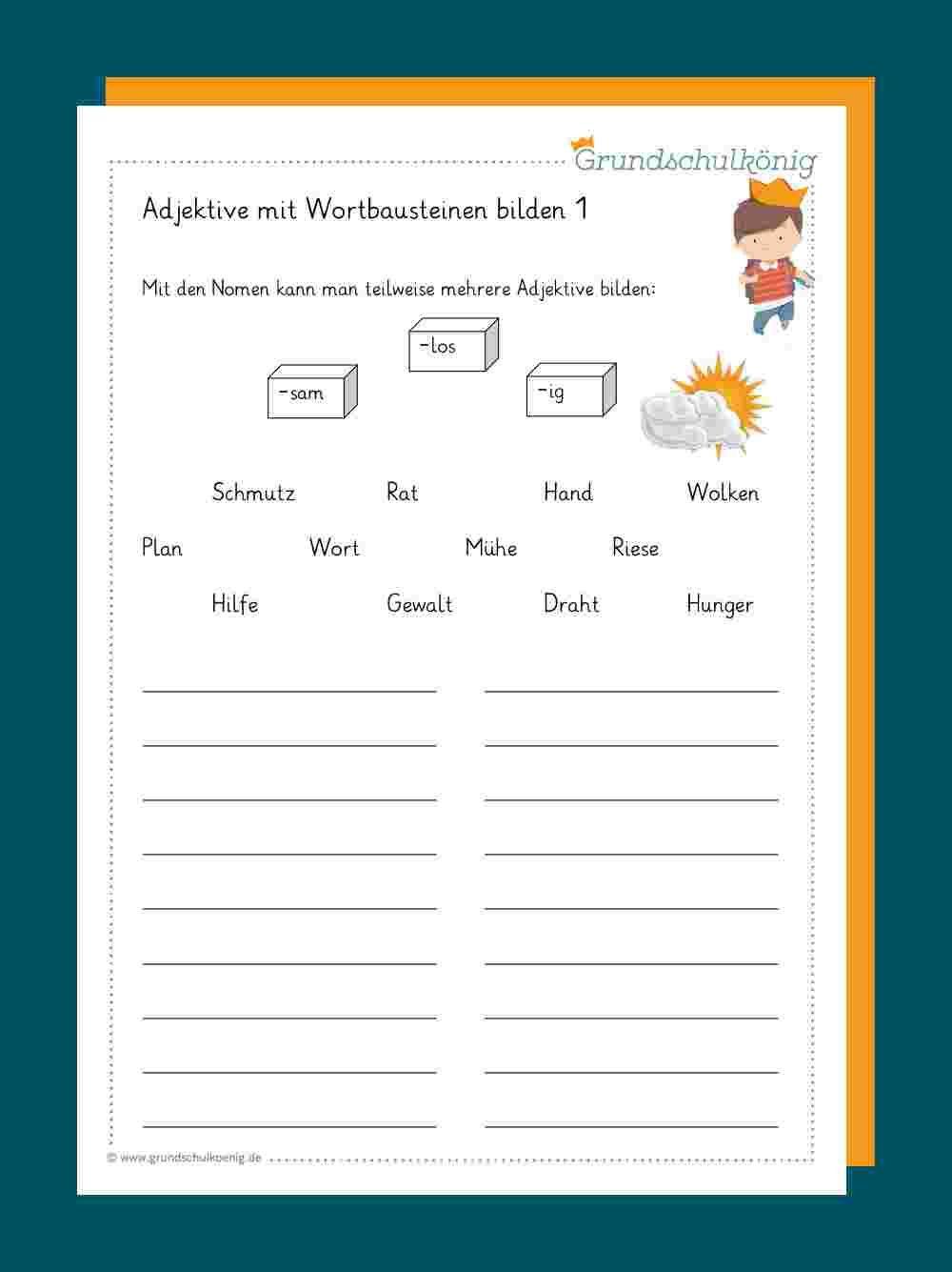 Adjektive/ Wiewörter   Adjektive, Adjektive grundschule ...