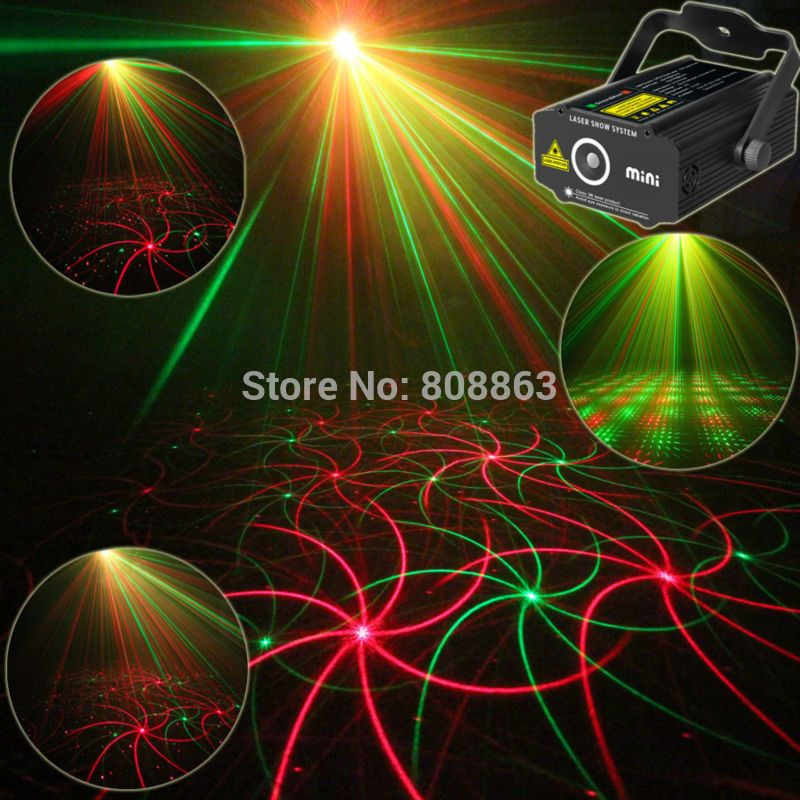 New High Quality Mini 2in1 effect R&G Audio stars Whirlwind Laser ...