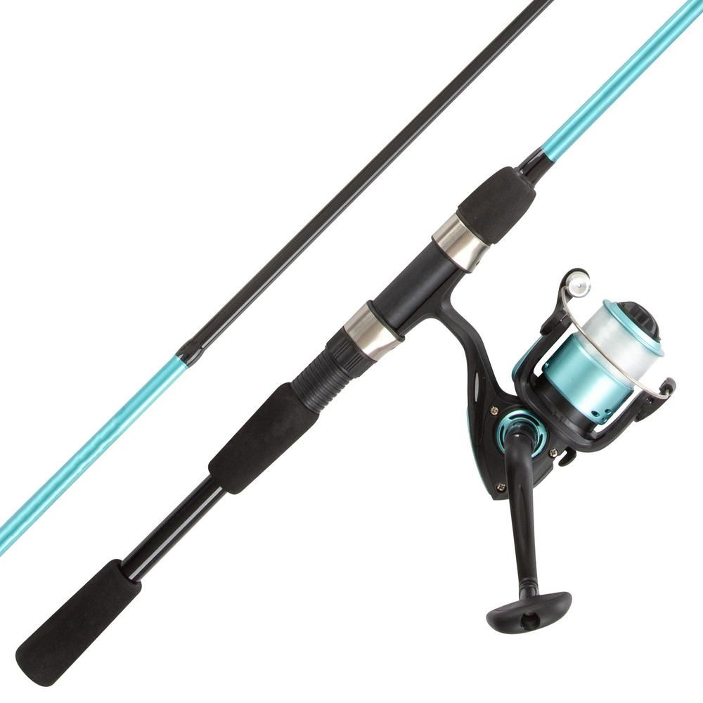 Trademark Games Turquoise 6 Fiberglass Fishing Rod Reel Combo Portable 2 Piece Pole With 2000 Aluminum Spi In 2020 Fishing Rods And Reels Rod And Reel Fishing Rod