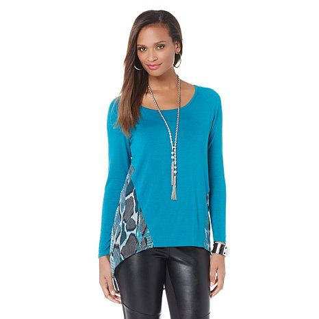 NENE by NeNe Leakes Mixed Media Top with Cami