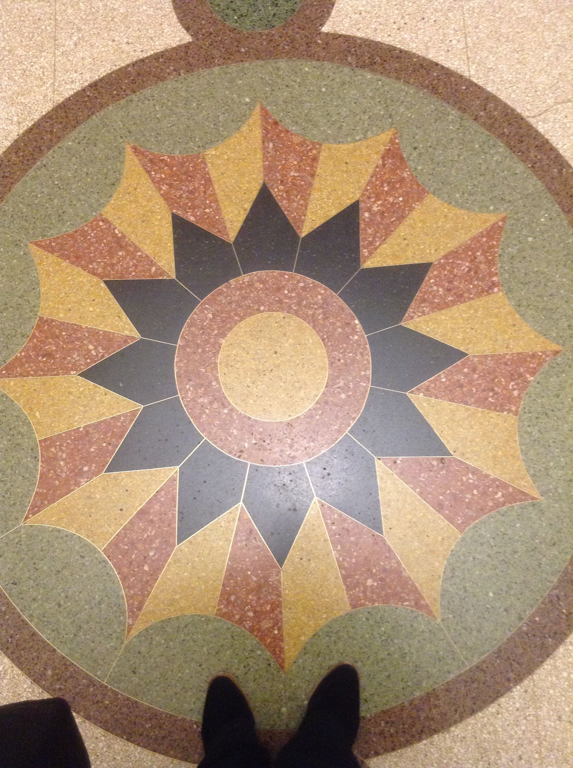 Beautiful Terrazzo Floor In Lower Manhattan New York New