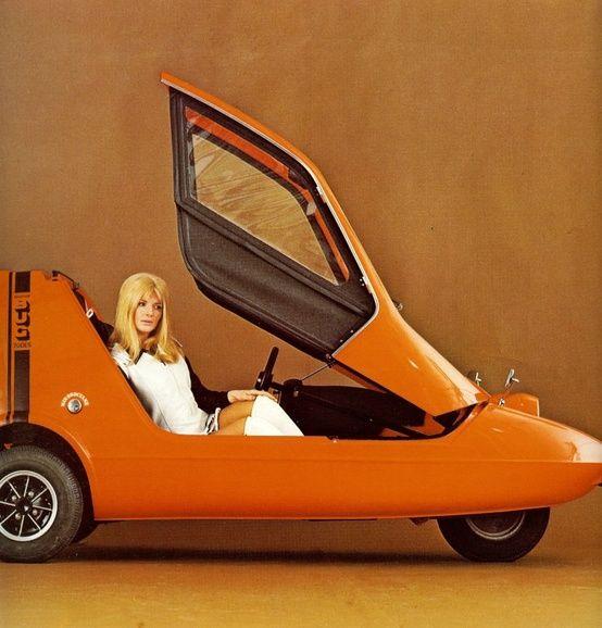 Orange 自動車 マイクロカー レトロカー