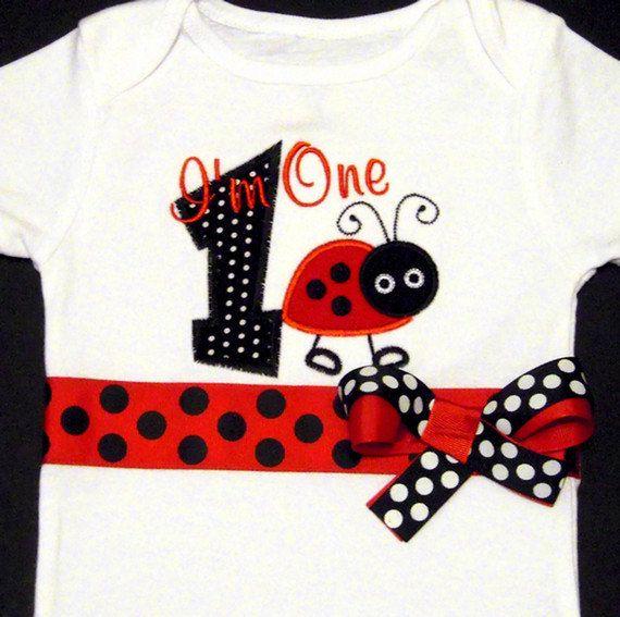 Ladybug First Birthday Shirt
