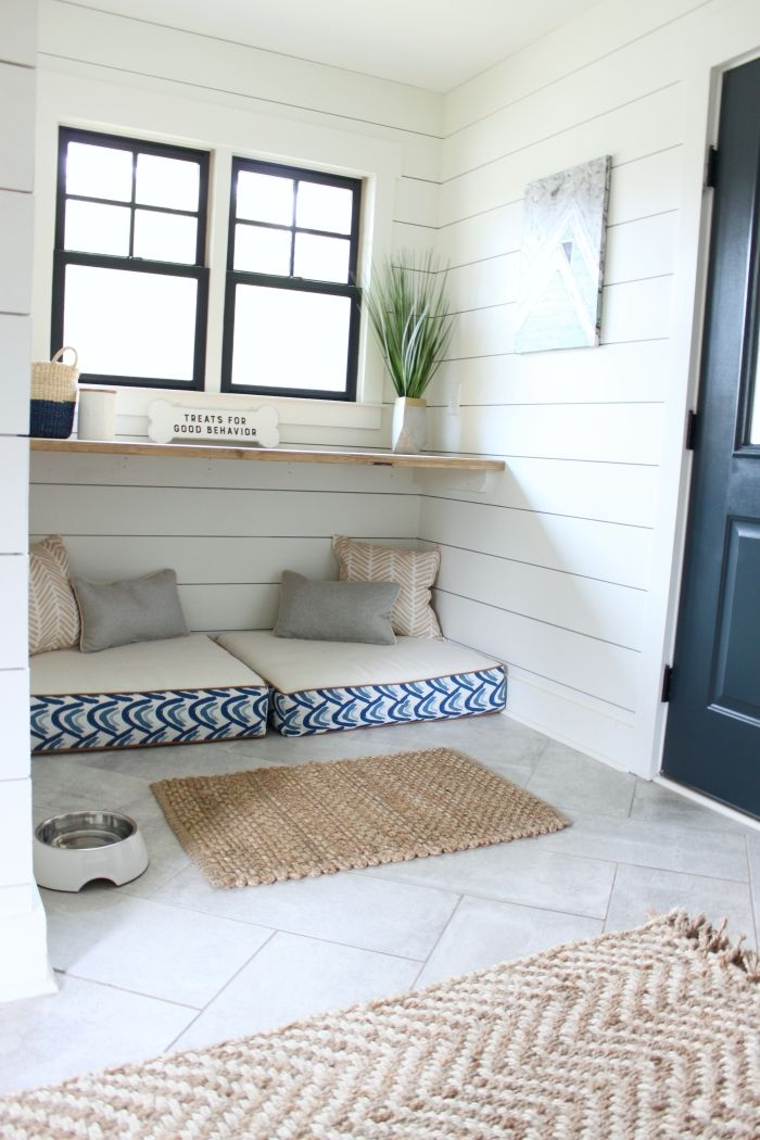 Mudroom Tour With Built In Dog Beds Dog Rooms Built In