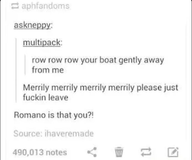 Could Be Romano, Could Be Me...
