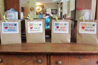 10 things I love about you- Small gift with a note for each day you're away from your kids.