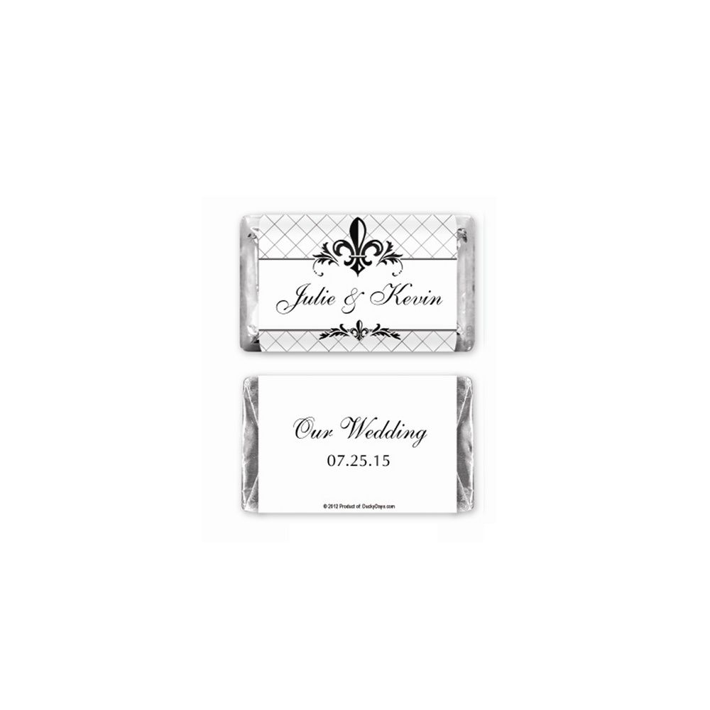 Hershey\'s® Fleur-de-lis Mini Chocolate Bars Personalized Favor ...