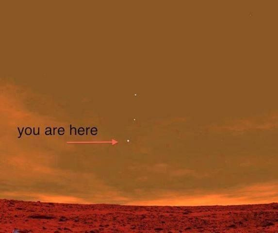 This is a picture from the Curiosity Rover on Mars showing