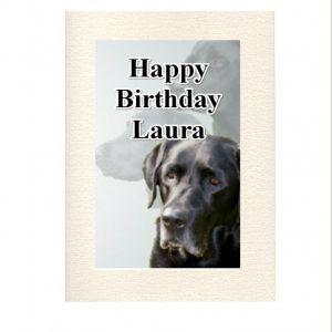 Personalised Black Labrador Greeting Card