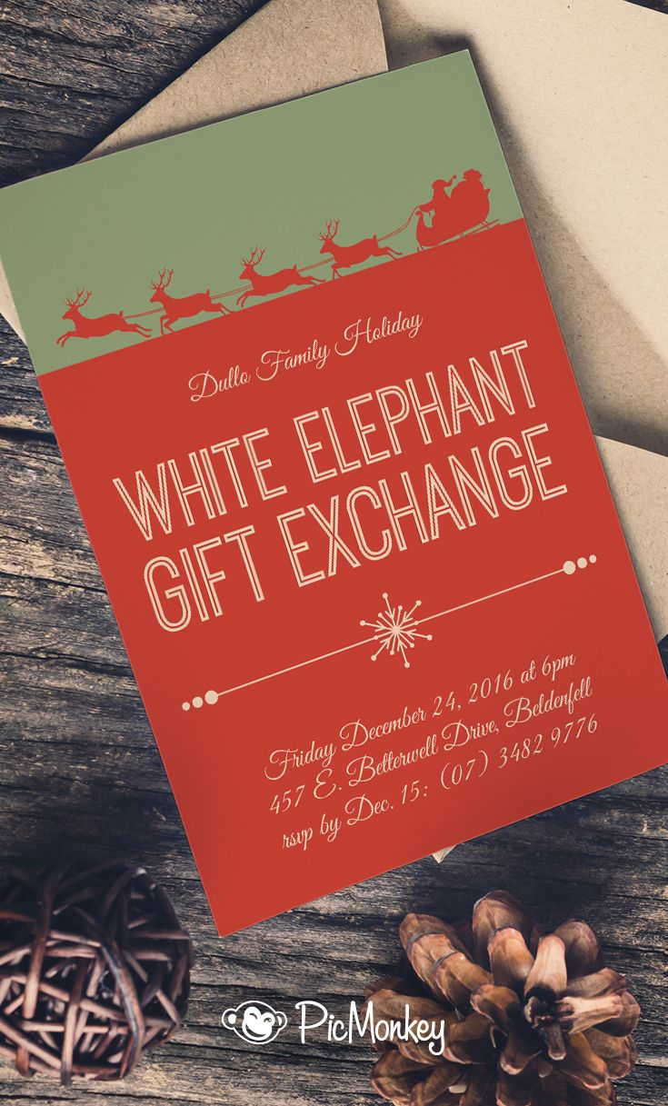 Make Holiday Party Invitations in 3 Simple Steps | Pinterest ...