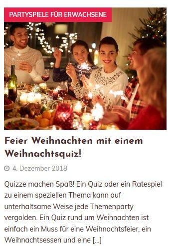 Weihnachtsquiz Spiel