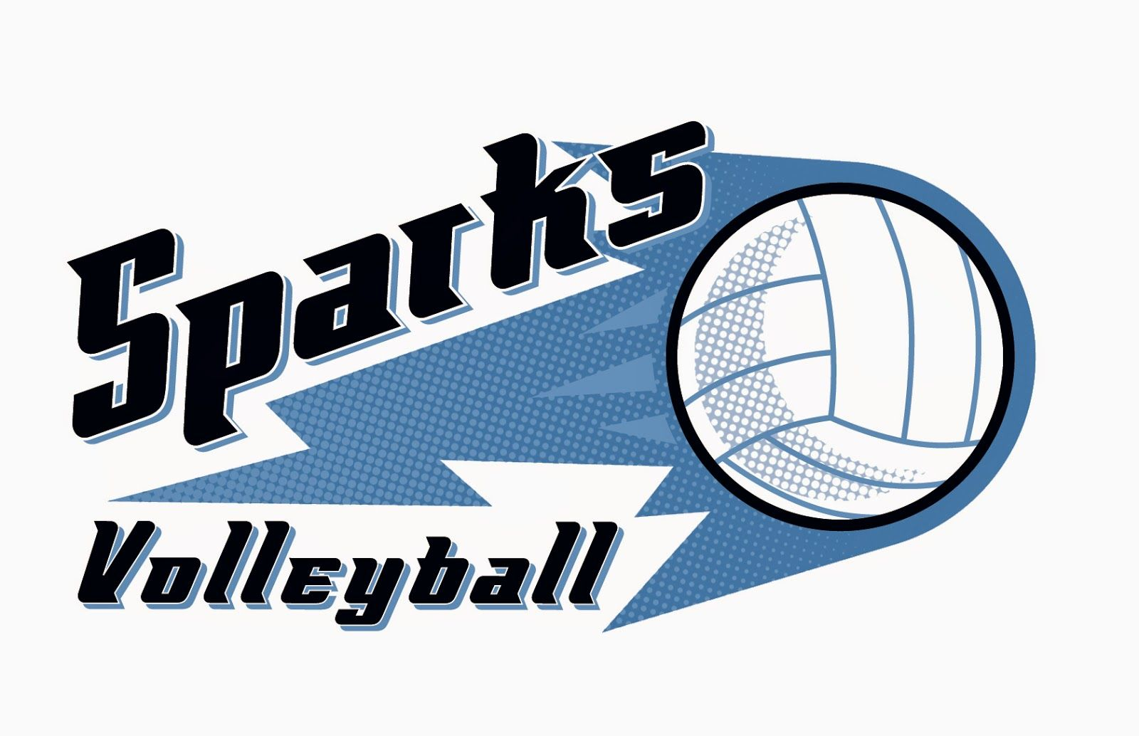 Sparks Volleyball Club Logo Design Volleyball Clubs Logo Design Logos