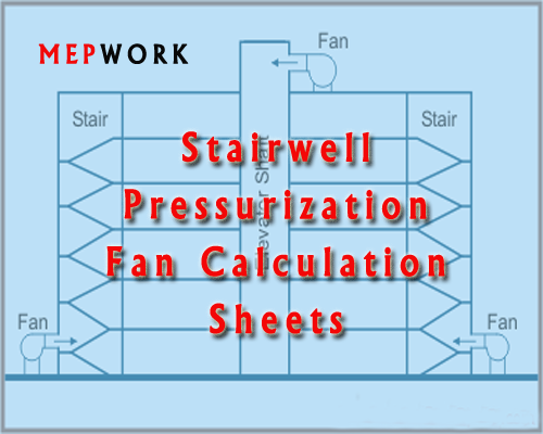 Stairwell Pressurization Fan Calculation Excel Sheets Stairwell Fan Hvac System