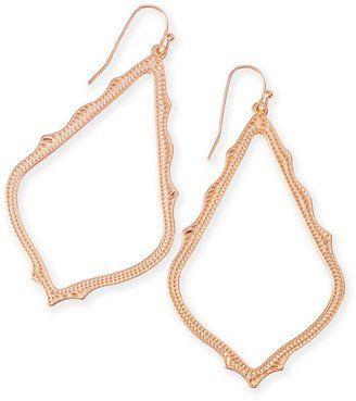 Sophee Drop Earrings in Rose Gold - $55.00