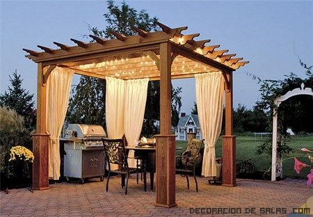 pergolas de madera para exteriores