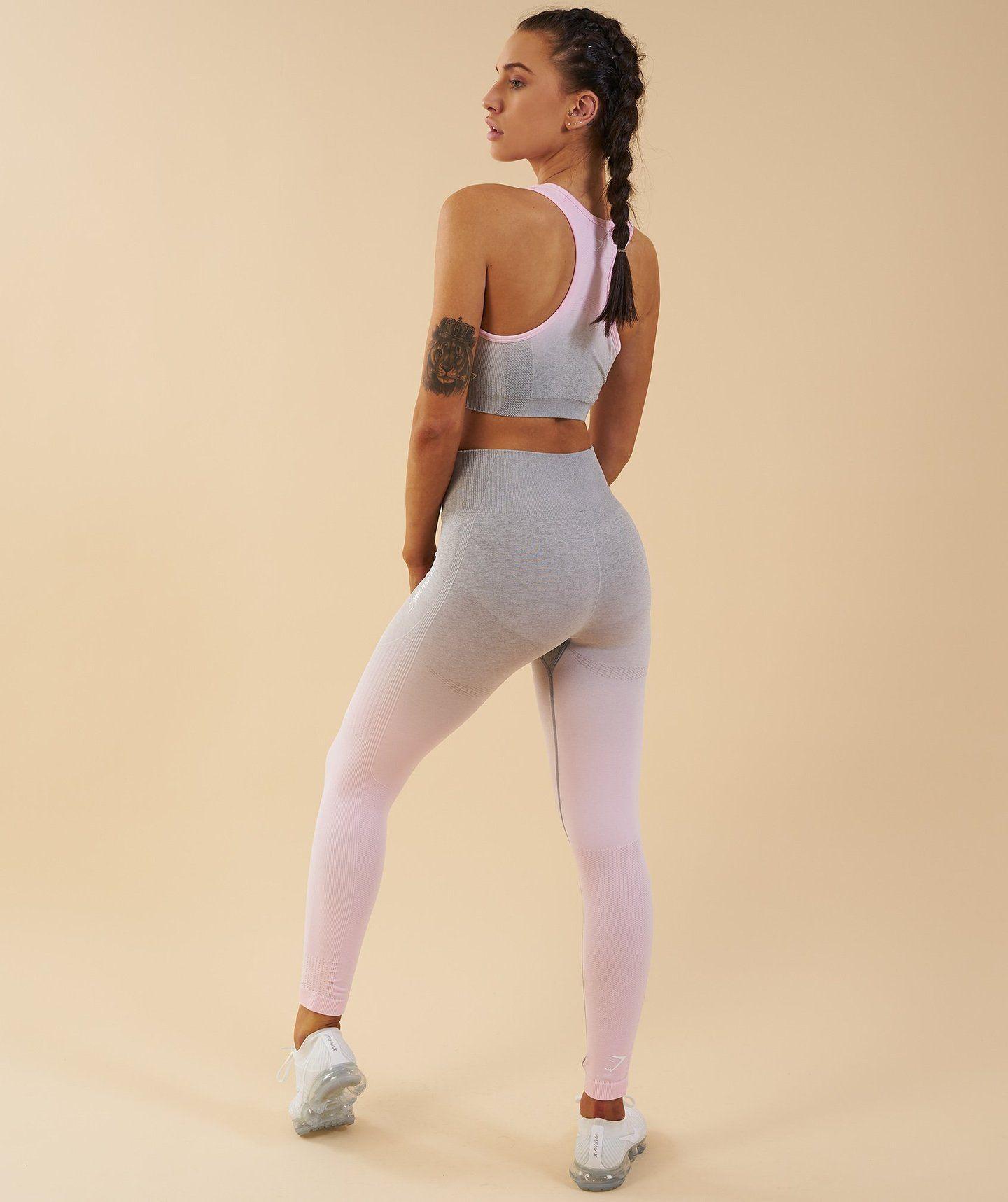 895e192a8d755 Gymshark Ombre Seamless Leggings - Light Grey/Chalk Pink | Fashion ...