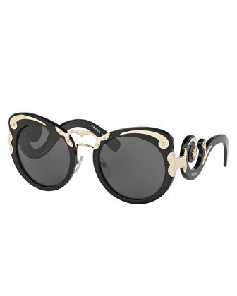 7d5eb0343044 Monochromatic Butterfly Scroll Sunglasses