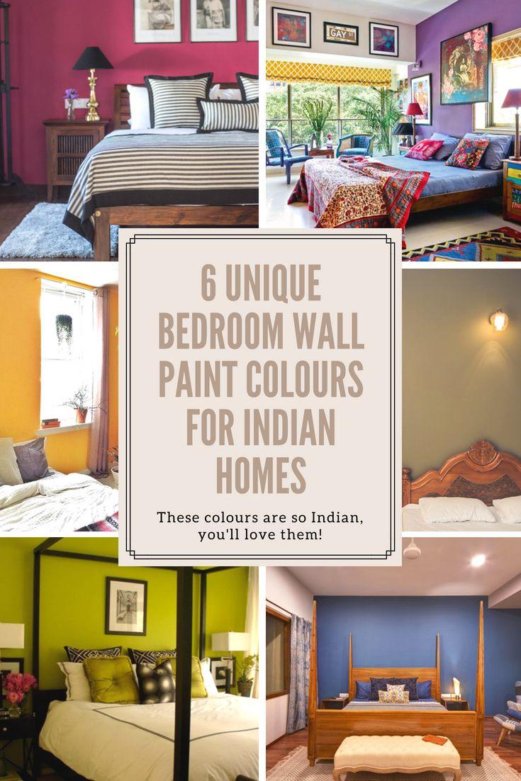 6 Unique Bedroom Wall Paint Colours That Work For Indian Homes Bedroom Wall Paint Colors Bedroom Paint Colors Master Bedroom Wall Paint