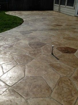 Flagstone Stamped Concrete Patio   Spaces   Houston   Western Patio Company