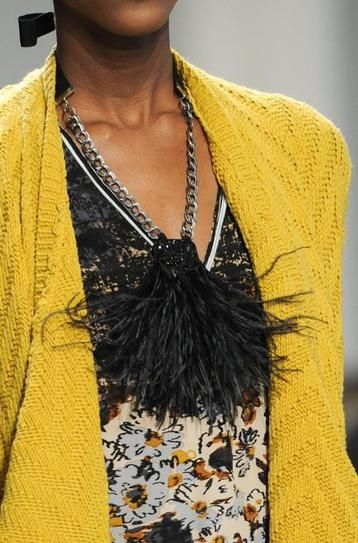 10 Trends from NYFW: Fall 2014  | Feathers | Tracy Reese