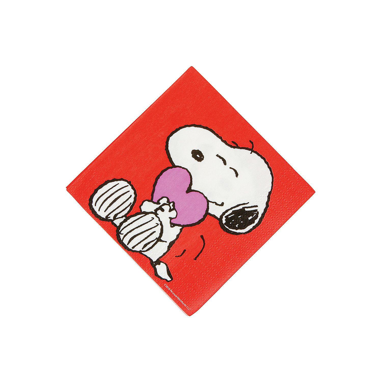 Peanuts® Valentine Beverage Napkins Oriental Trading