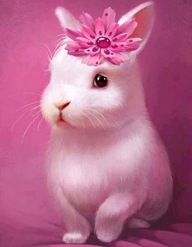 Bunny loves flowers www.Prettyflowers.com