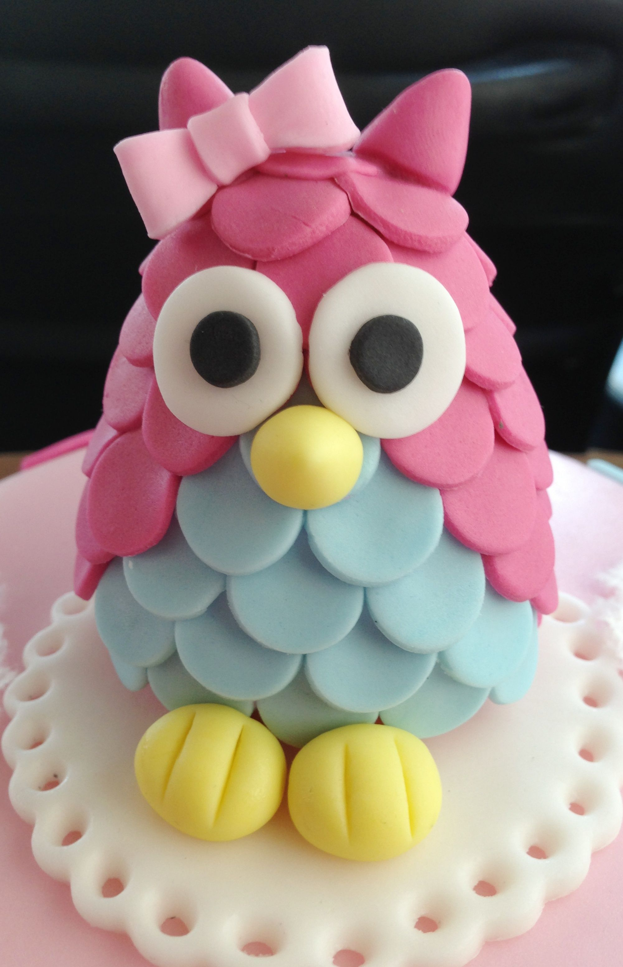Owl 1st Birthday Owl topper was inspired by AimeeJane Design that