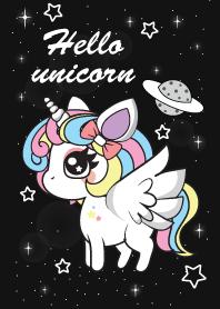 Hello Unicorn Line Theme Line Store Unicorn Wallpaper Cute Unicorn Wallpaper Unicorn Painting
