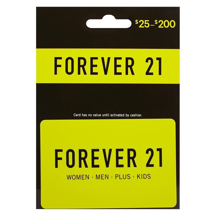 Forever 21 nondenominational gift card forever 21 gift