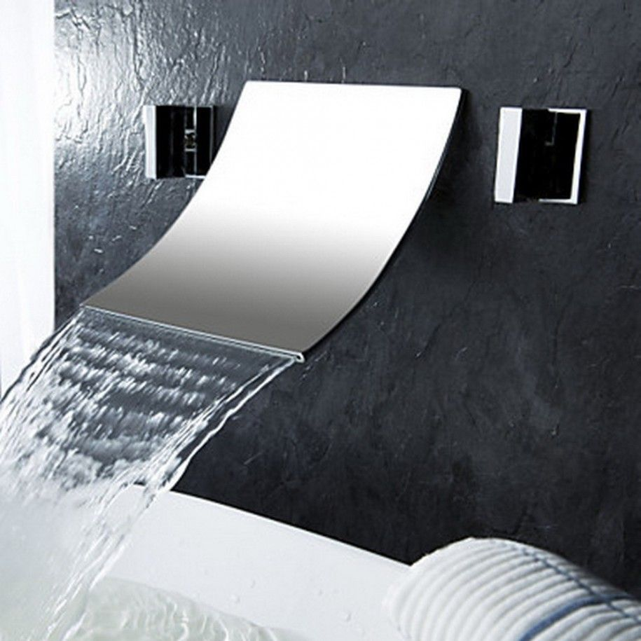 Merveilleux The Artistic Touch Wall Mount Waterfall Faucet : Elegant Waterfall Wall  Mount Faucet Detail