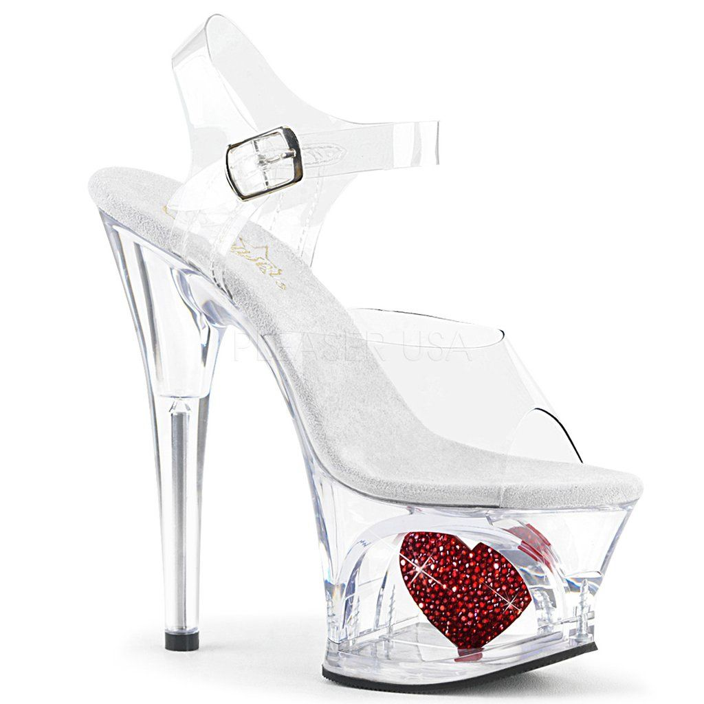 13e5a0e0290 MOON-708HRS Pleaser Sexy Stripper Shoes Cut-Out Heart Platforms ...