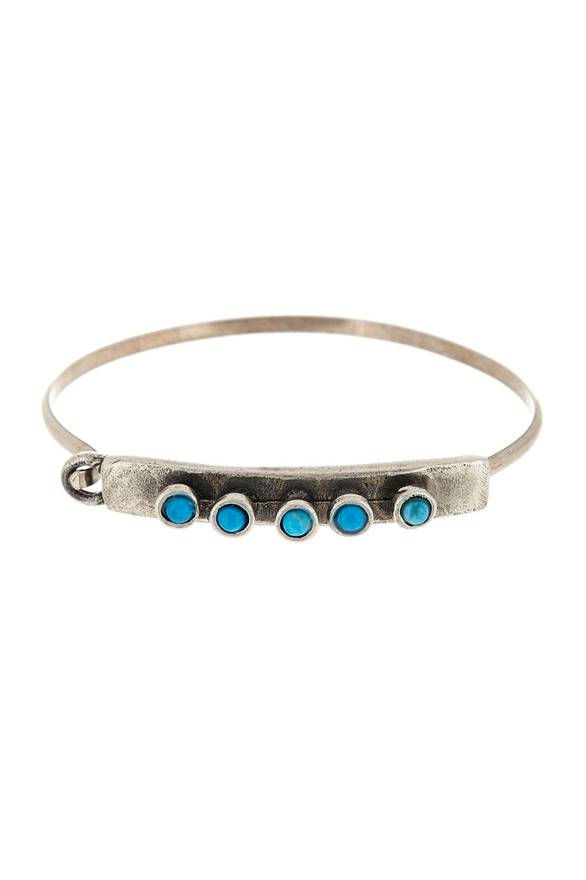 The 2bandits Franklin S Tower Turquoise Silver Cuff Bracelet Nordstrom Rack