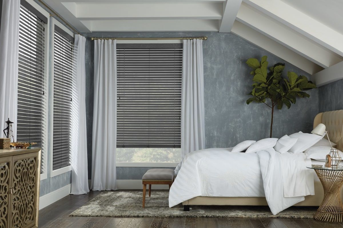 Window coverings shutters  we provide and install wood blinds window treatments shades
