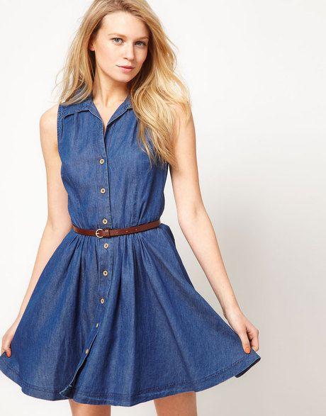 7bedd5edb30f Women's Blue Oasis Belted Denim Shirt Dress   My Style   Denim shirt ...