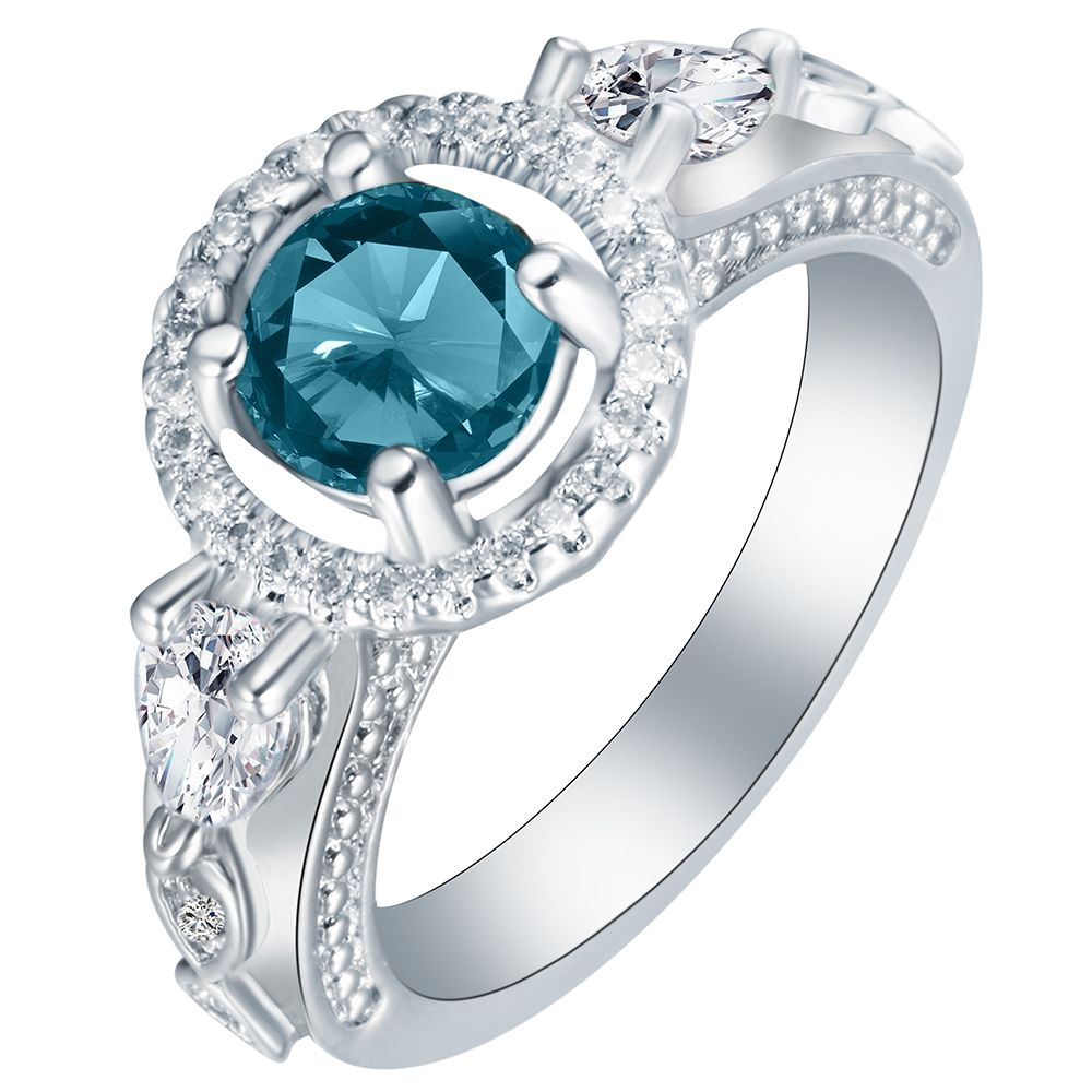 Click to buy ucuc big rhinestone crystal jewelry vintage wedding rings