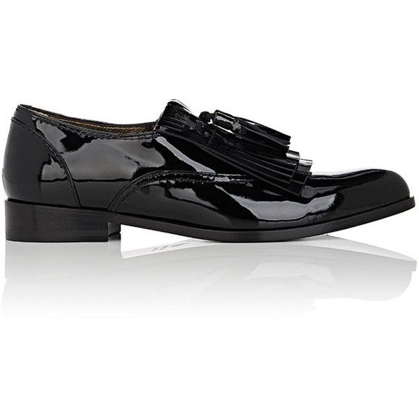 Lanvin Women's Kiltie Patent Leather Loafers (7.650 ARS) ❤ liked on Polyvore featuring shoes, loafers, black, lanvin shoes, black low heel shoes, slip-on loafers, patent loafers and patent leather shoes