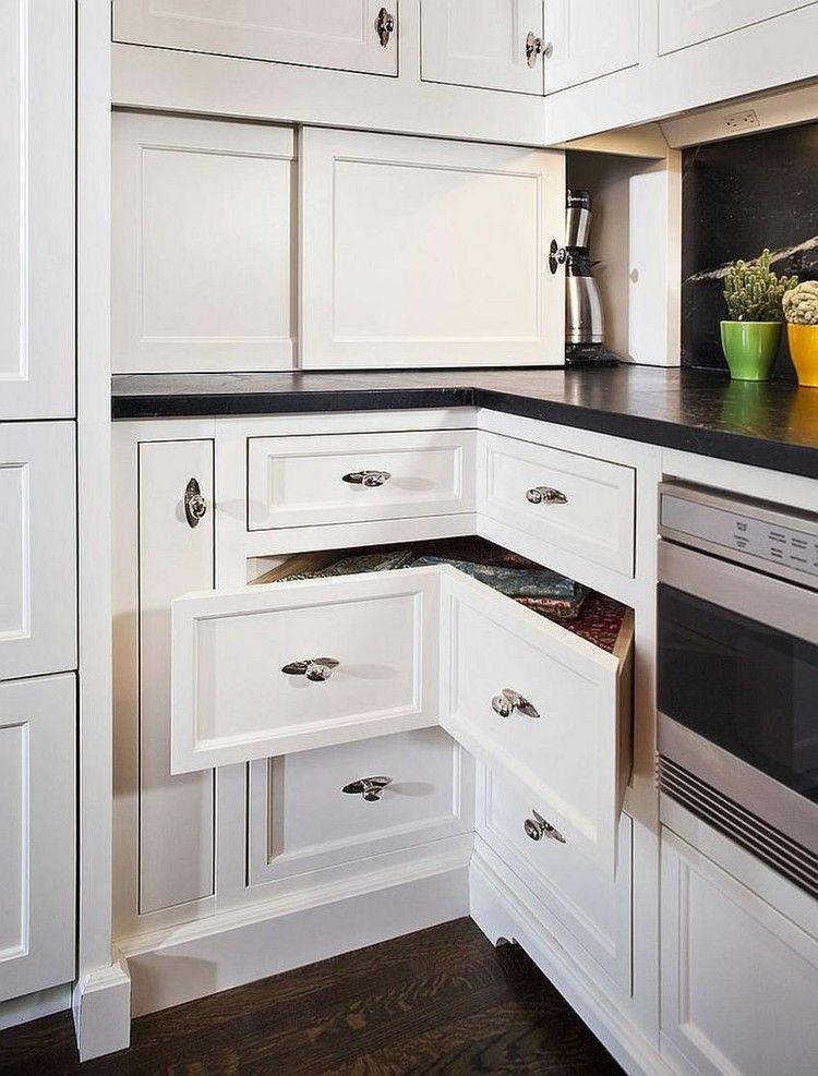 cocina moderna soluciones almacenamiento originales armario blanco - estantes para cocina