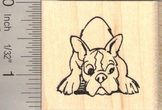 French Bulldog Resting Rubber Stamp ** To view further for this item, visit the image link.