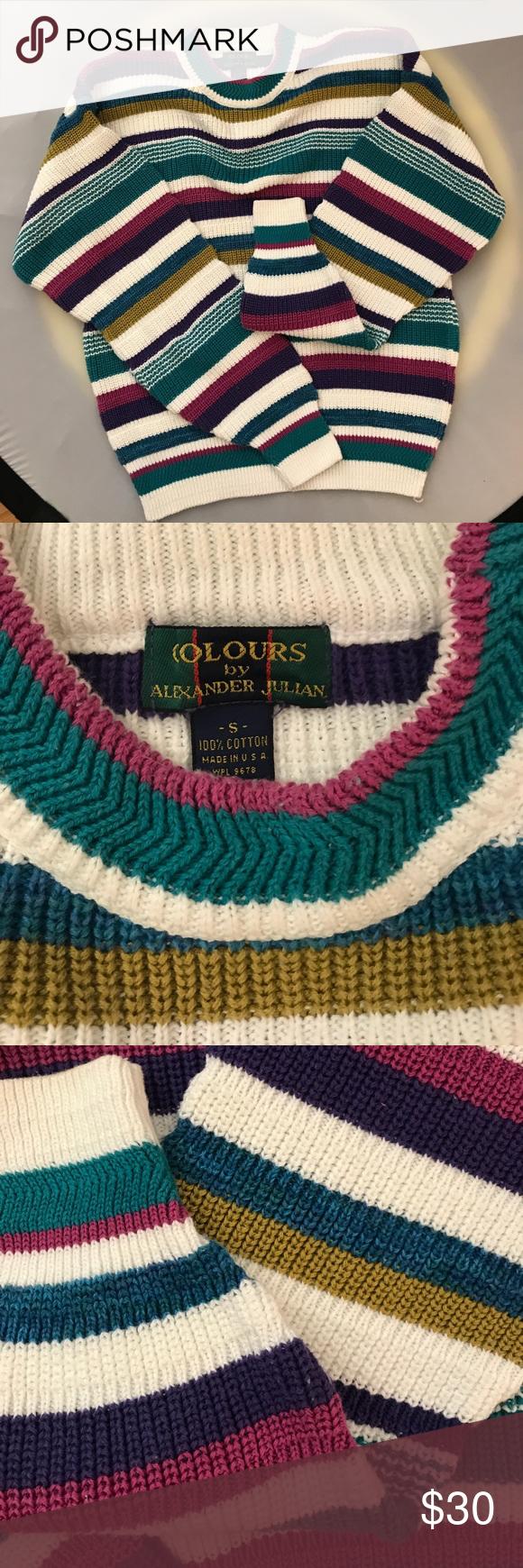Vintage Colours Alexander Julian Cotton Sweater | Cotton sweater ...