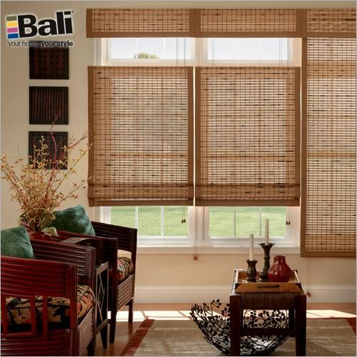 Bali Premium Woven Wood Shades In Nicaraguan Umber With Optional