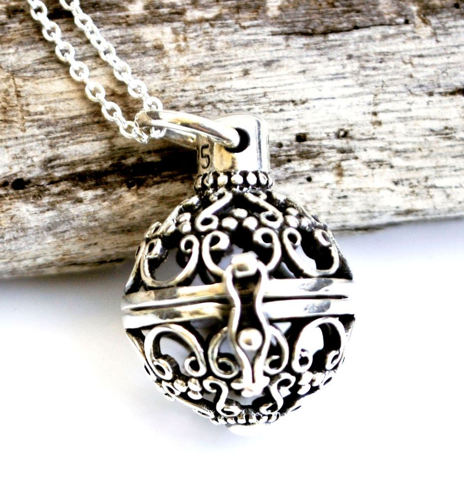 925 sterling silver bali style filigree ball locket pendant and 925 sterling silver bali style filigree ball locket pendant and chain necklace mozeypictures Gallery