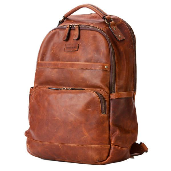 Tan All-Leather Classic Backpack by Frye | Wish list of things ...