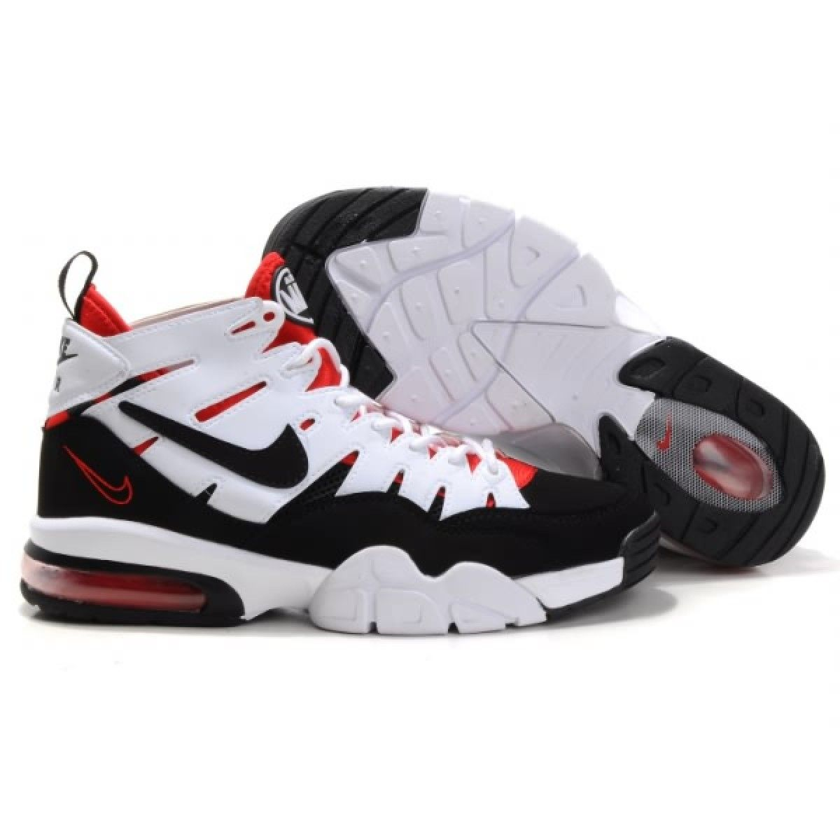 100% authentic a9f0a 1d77f Nike Air Max 2 Trainer  94 Retro White Black Red Sneakers Shoes on .