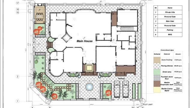 Villa Floor Plan In Dubai Floor Plans House Plans Luxury House Plans