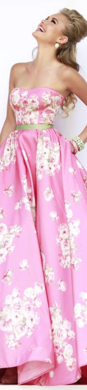 Fabulous floral gown. SHERRI HILL Spring 2015 via @swisschicboutiq ...