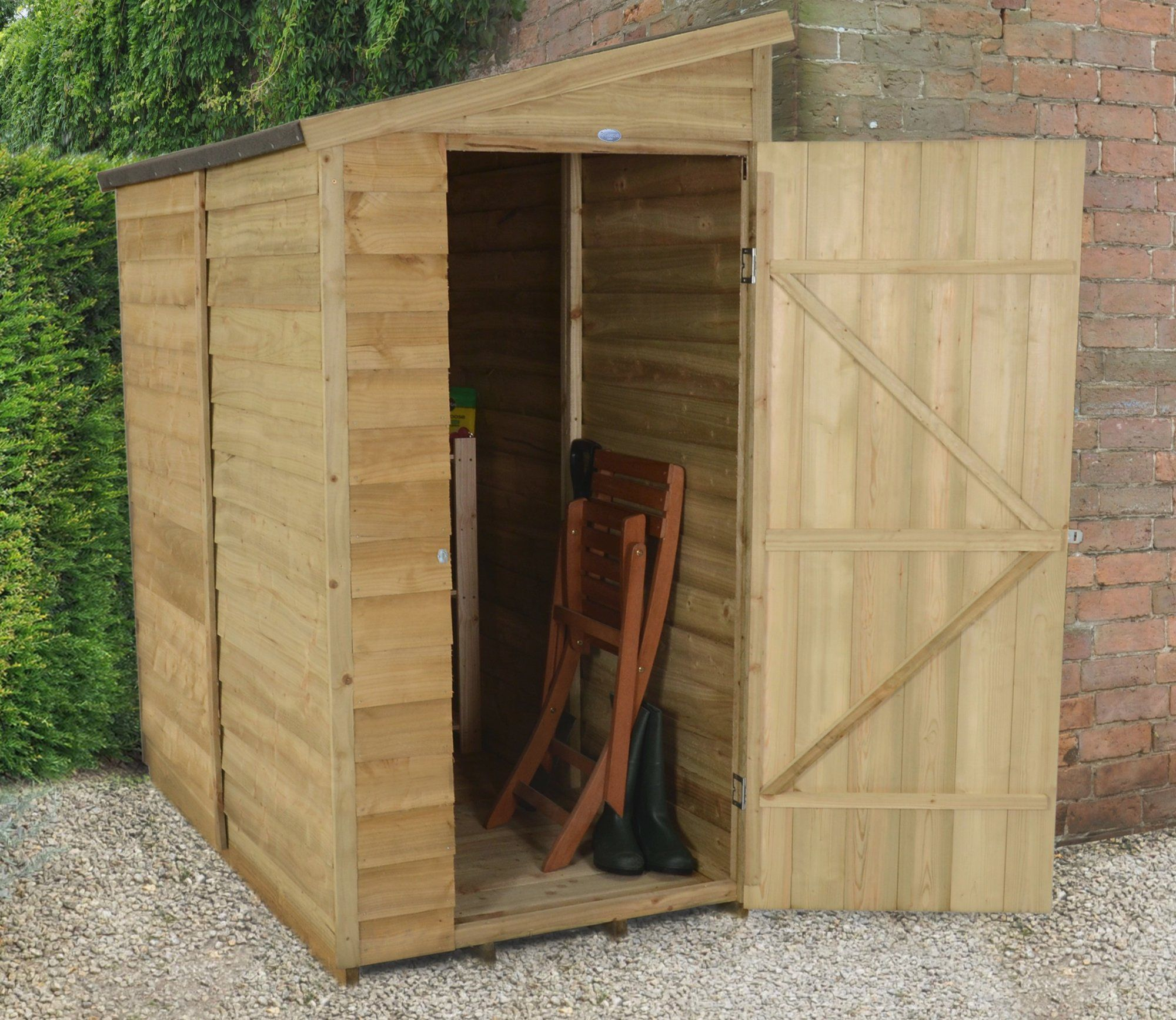 3 x 6 overlap pressure treated pent shed gardensitecouk the - Garden Sheds 6 X 3