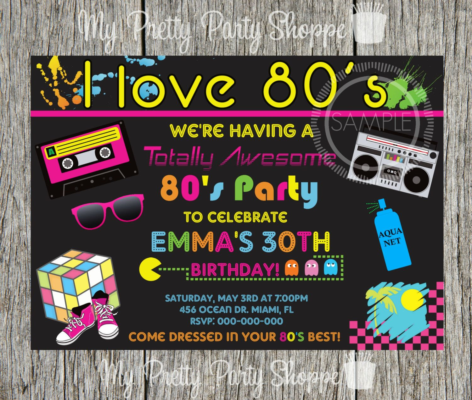 80\'s Party / I Love The 80\'s / Totally 80\'s Birthday Party ...