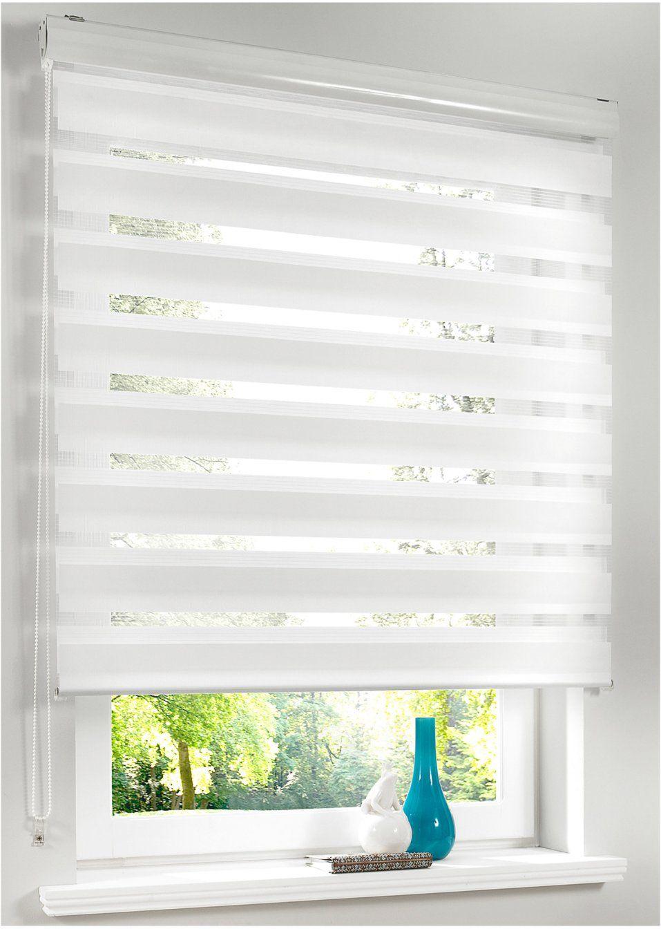 6700db87f6d84d Jetzt anschauen: Mit dem modernen Doppelrollo regulieren Sie die  Lichtverhältnisse in Ihren Wohnräumen individuell. Der Stoff ist  abwechselnd in ...