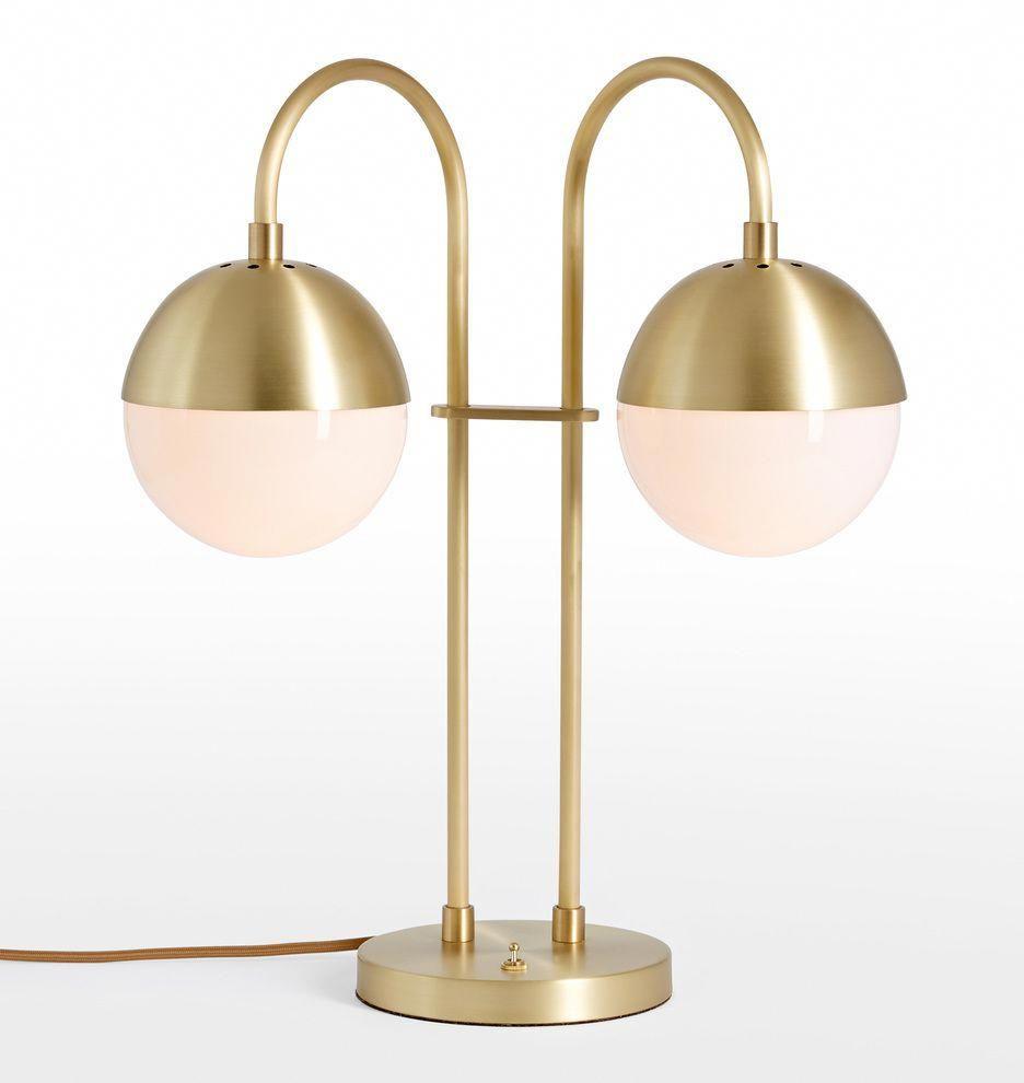 Cedar u moss double table lamp rejuvenation glasslamps table
