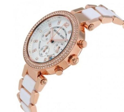 405004dd664e NEW MICHEAL KORS MK5774 PARKER 39MM WHITE DIAL ROSE GOLD LADIES WATCH  Michael Kors Watch